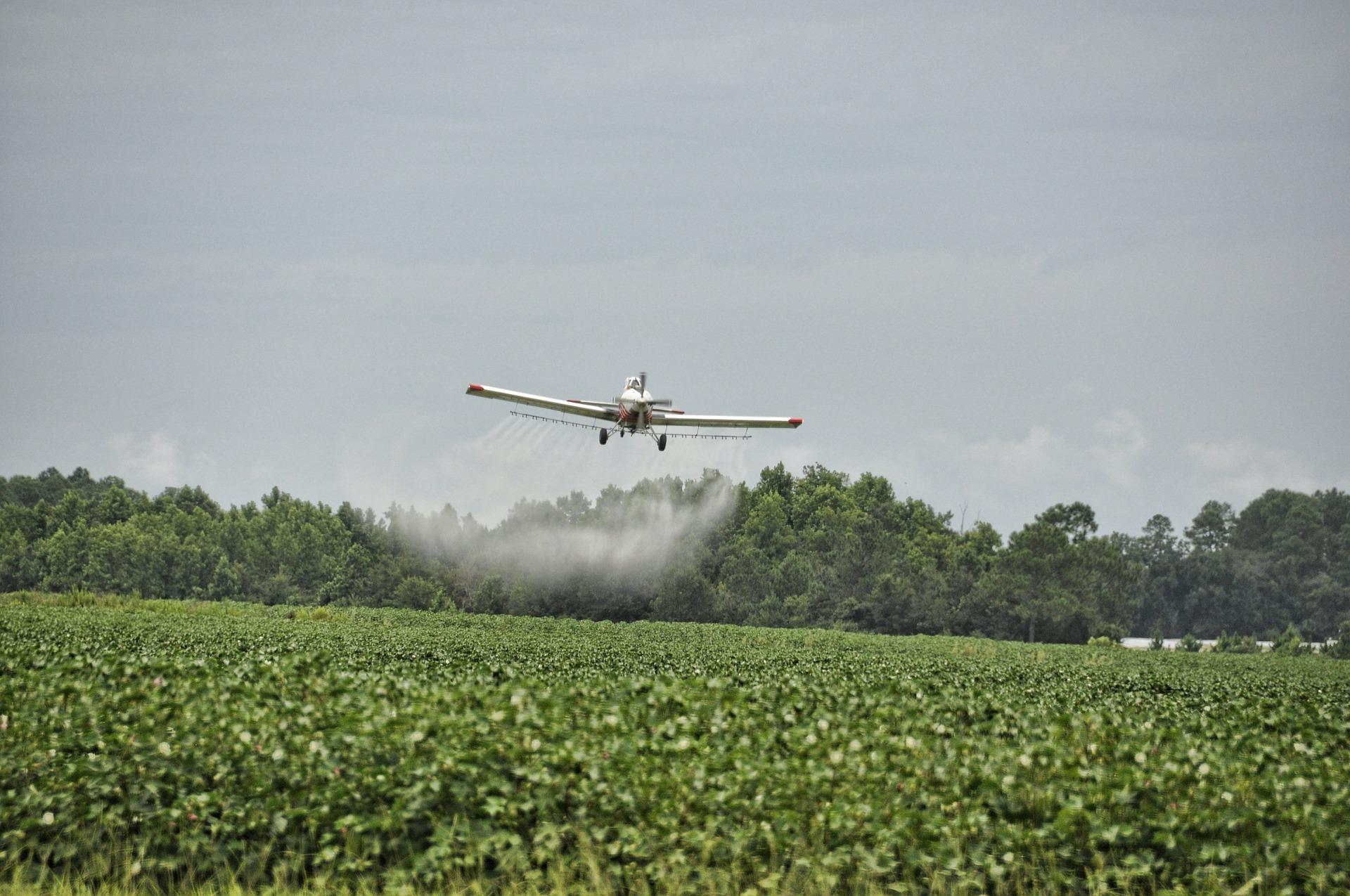 Flugzeug Pestizide