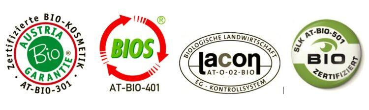 Biokosmetik Gütesiegel Austria Bio Garantie BIOS Lacon SLK