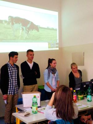 """Das Schüler-Projektteam """"Wir fürs Tier"""" bei der Arbeit"""