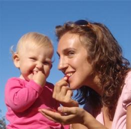 Regina Baumgartner mit Tochter