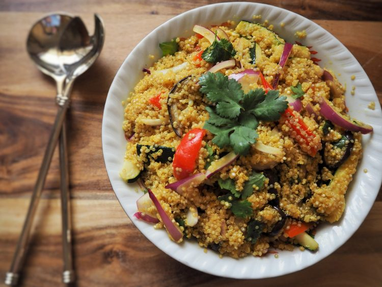 Quinoa-Risotto mit Gemüse