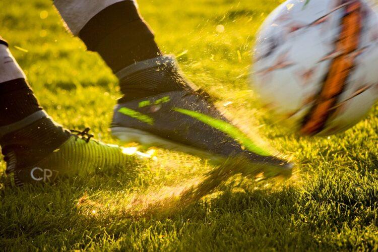 Fußballschuhe in Action