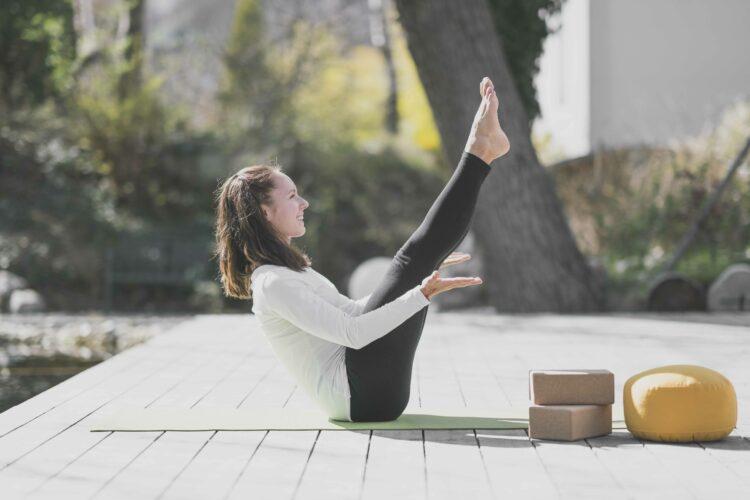 Yogalehrerin Linda im Hotel La Vimea
