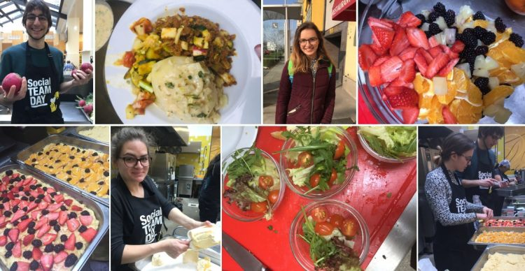 Veggie homeless cooking, vegan Kochen für Obdachlose