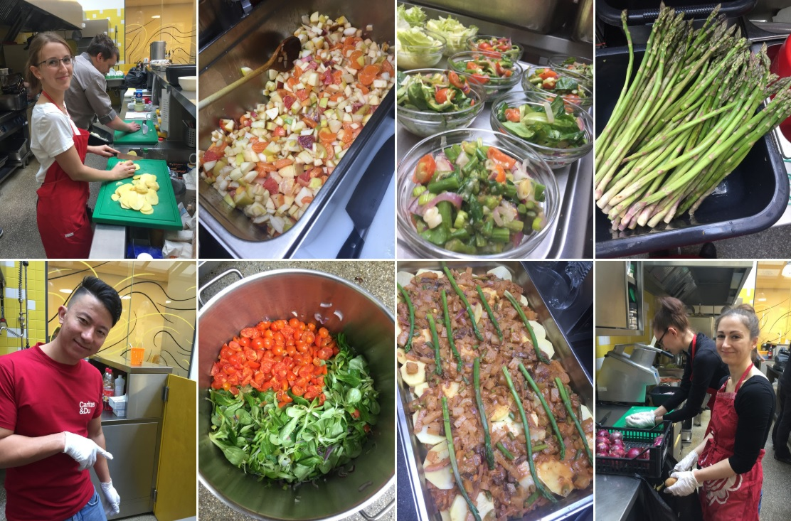 Veggie homeless cooking
