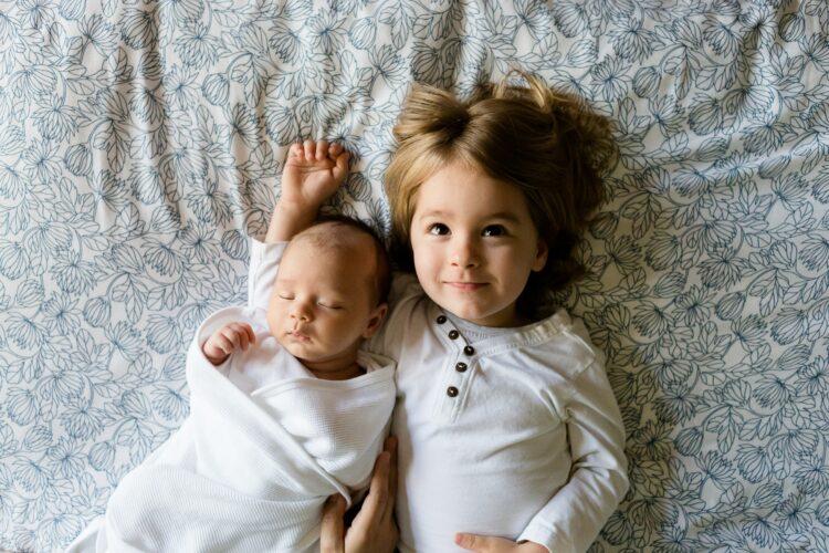 Stoffwindeln sind angenehm für die Haut des Babies.